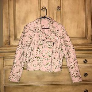 Light pink floral jacket